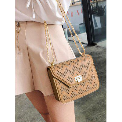 Studded Flapped Chain Crossbody Bag rhinestone studded chain necklace