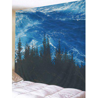 Ocean Forest Print Wall Hanging Tapestry