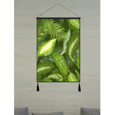 Leaves Print Wall Art Tassel Hanging Picture