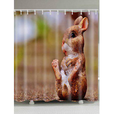 Bunny Happy Easter Day Print Waterproof Shower Curtain