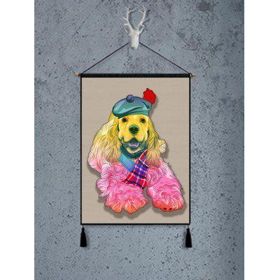 Dog Pattern Wall Background Tassel Hanging Painting