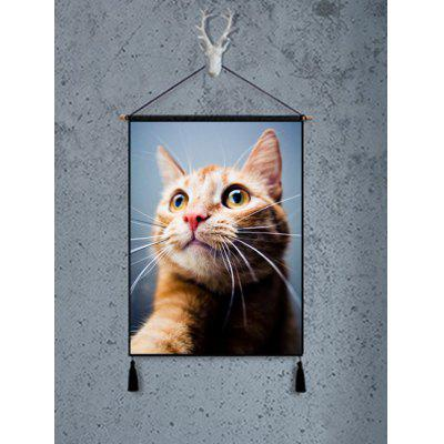 Cat Pattern Hanging Painting Tassel Decor