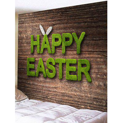 Happy Easter Letters Printed Tapestry Wall Art