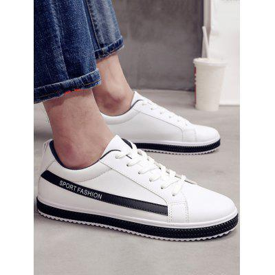 Low Top Casual Skate ShoesCasual Shoes<br>Low Top Casual Skate Shoes<br><br>Closure Type: Lace-Up<br>Embellishment: None<br>Gender: For Men<br>Occasion: Casual<br>Outsole Material: Rubber<br>Package Contents: 1 x Skate Shoes (pair)<br>Pattern Type: Patchwork<br>Season: Summer, Spring/Fall<br>Shoe Width: Medium(B/M)<br>Toe Shape: Round Toe<br>Toe Style: Closed Toe<br>Upper Material: PU<br>Weight: 1.1400kg