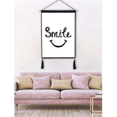 Smile Expression Pattern Wall Decor Tassel Hanging Painting
