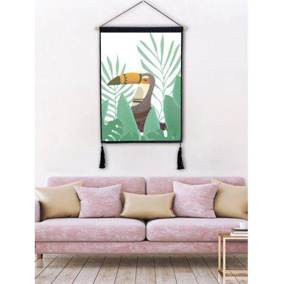 A Bird in the Grass Printed Tassel Hanging Picture