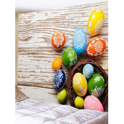 Colorful Egg Shaped Stones Printed Wall Hanging Tapestry