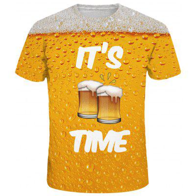 Beer Print Graphic Tee