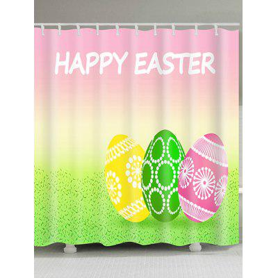 Happy Easter Letter Eggs Print Shower Curtain