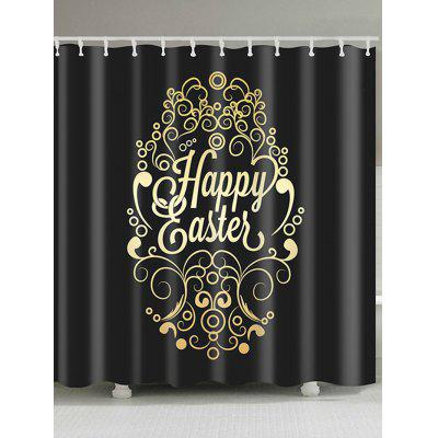 Happy Easter Designed Print Shower Curtain