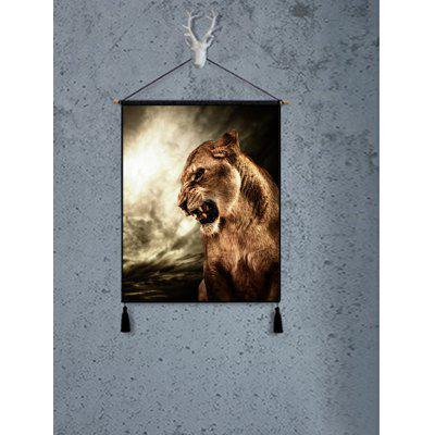 Roar Lion Print Wall Decor Painting