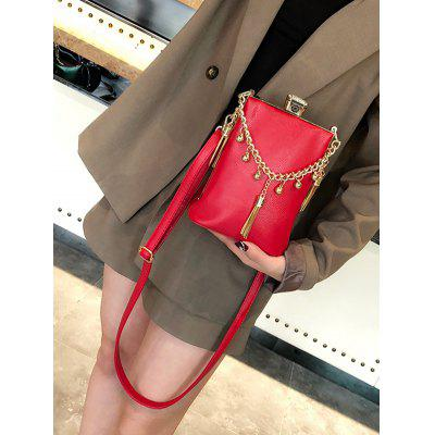 Metal Tassel Detail PU Leather Crossbody Bag pu tassel design crossbody bag