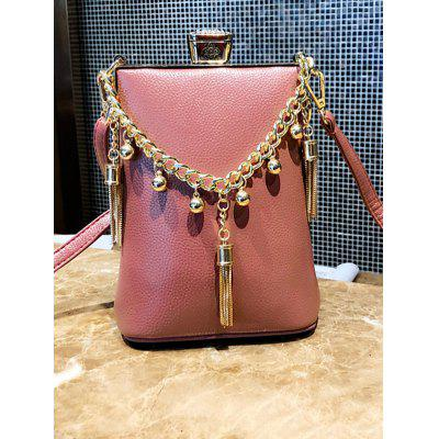 Metal Tassel Detail PU Leather Crossbody Bag элемент питания gp batteries cr2025 7c1