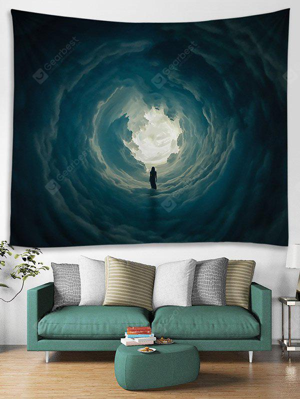 Secret Woman in Cloud Hole Printed Tapestry Wall Hanging Art