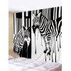 Zebra Printed Wall Hanging Tapestry - BLACK