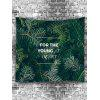 Pine Needle Print Wall Hanging Tapestry - DARK FOREST GREEN