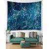 Wall Decoration Sea Spray Printed Tapestry - OCEAN BLUE
