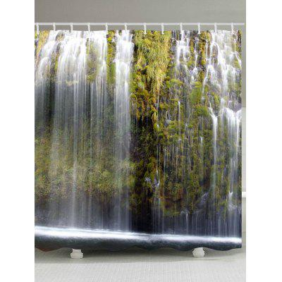 Waterfalls Print Shower Curtain
