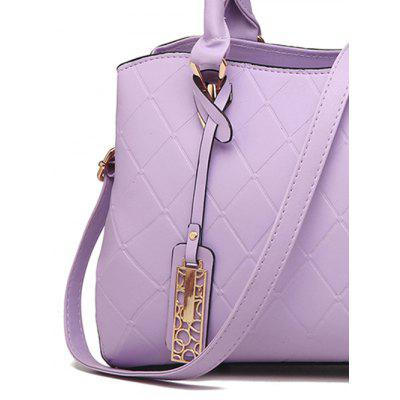 Quilted Metallic PU Leather Handbag quilted purses