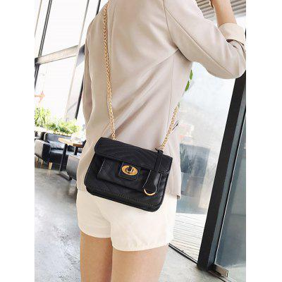 Stitching Quilted Crossbody Bag metal lock quilted crossbody chain bag