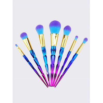 7Pcs Ombre Diamond Shaped Handle Two Tone Hair Makeup Brushes Set