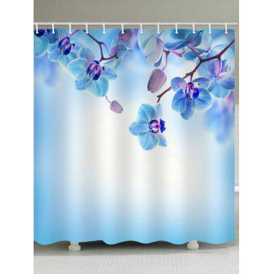 Phalaenopsis Printed Waterproof Fabric Shower Curtain
