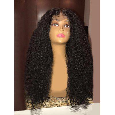 Long Center Parting Shaggy Curly Synthetic Lace Front Wig