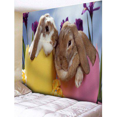 Rabbit Lovers Print Tapestry Wall Hanging Decor