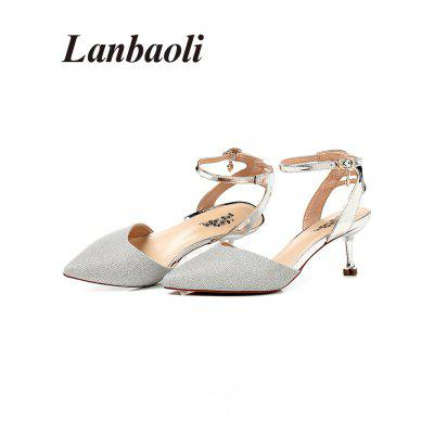 Lanbaoli Pointed Toe Mid Heel PumpsWomens Pumps<br>Lanbaoli Pointed Toe Mid Heel Pumps<br><br>Embellishment: Sequined<br>Heel Height: 6CM<br>Heel Height Range: Med(1.75-2.75)<br>Heel Type: Stiletto Heel<br>Occasion: Party<br>Package Contents: 1 x Pumps (pair)<br>Pumps Type: Ankle Strap<br>Season: Spring/Fall<br>Shoe Width: Medium(B/M)<br>Toe Shape: Pointed Toe<br>Toe Style: Closed Toe<br>Upper Material: PU<br>Weight: 1.0660kg
