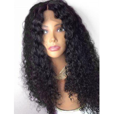 Center Parting Long Shaggy Curly Lace Front Synthetic Wig