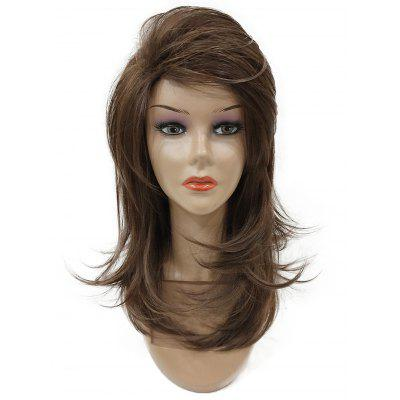 Long Side Bang Layered Fluffy Straight Synthetic Wig