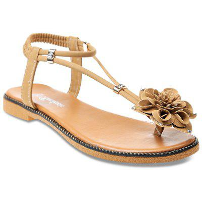 Flower Decorated Thong Sandals