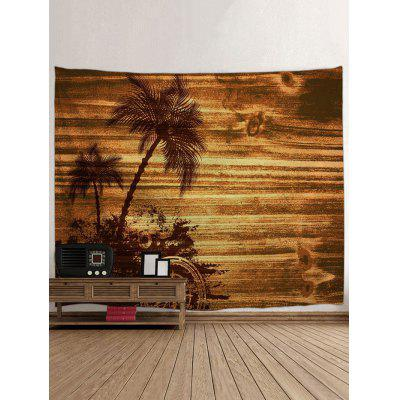 Wall Hanging Decoration Palm Tree Wood Grain Print TapestryBlankets &amp; Throws<br>Wall Hanging Decoration Palm Tree Wood Grain Print Tapestry<br><br>Feature: Removable, Washable<br>Material: Polyester<br>Package Contents: 1 x Tapestry<br>Shape/Pattern: Plant,Wood<br>Style: Fashion<br>Weight: 0.4000kg