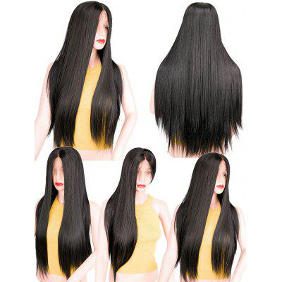 Long Lace Front Center Parting Straight Synthetic Wig