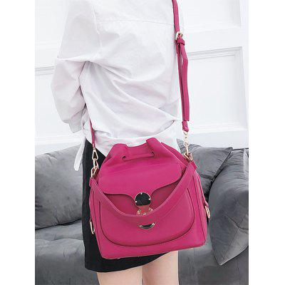 Chic Faux Leather Drawstring Bag chic faux leather minimalist tote bag with strap