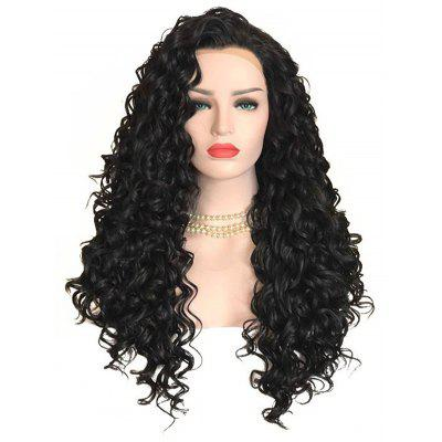 Long Free Part Deep Wave Lace Front Synthetic Wig