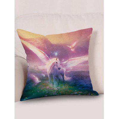 Winged Horse Pattern Decorative Linen PillowcasePillow<br>Winged Horse Pattern Decorative Linen Pillowcase<br><br>Material: Linen<br>Package Contents: 1 x Pillowcase<br>Pattern: Animal<br>Shape: Square<br>Style: Scenic<br>Weight: 0.0900kg