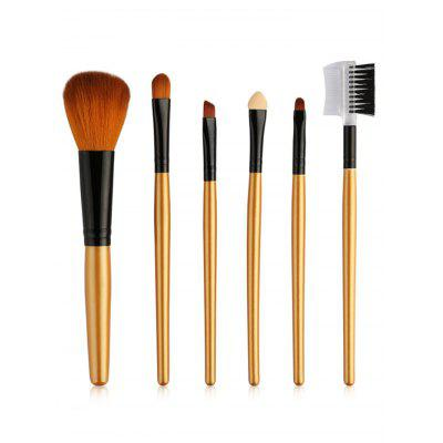 6Pcs Shampin Handle Ultra Soft Makeup Brush Set