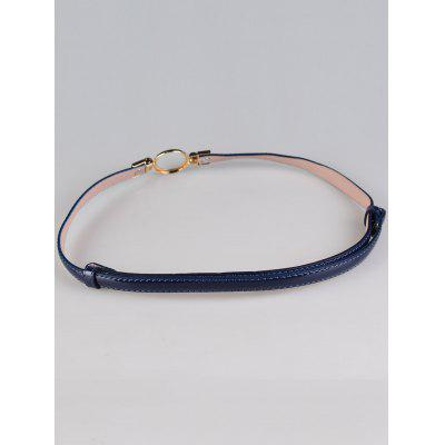 Vintage Metal Round Buckle Decorated Skinny BeltWomens Belts<br>Vintage Metal Round Buckle Decorated Skinny Belt<br><br>Belt Length: 99CM<br>Belt Material: Faux Leather<br>Belt Silhouette: Buckle<br>Belt Width: 1.5CM<br>Gender: For Women<br>Group: Adult<br>Package Contents: 1 x Belt<br>Pattern Type: Others<br>Style: Fashion<br>Weight: 0.0700kg