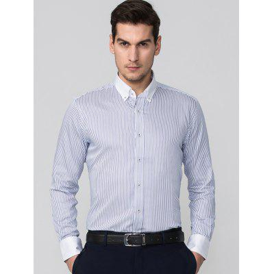 JAMES KINGDOM Vertical Striped Slim Fit ShirtMens Shirts<br>JAMES KINGDOM Vertical Striped Slim Fit Shirt<br><br>Collar: Turn-down Collar<br>Material: Cotton<br>Package Contents: 1 x Shirt<br>Pattern Type: Striped<br>Shirts Type: Formal Shirts<br>Sleeve Length: Full<br>Weight: 0.6180kg