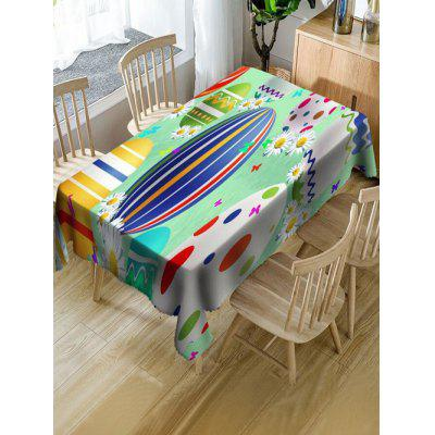 Easter Holiday Eggs Print Table Cloth