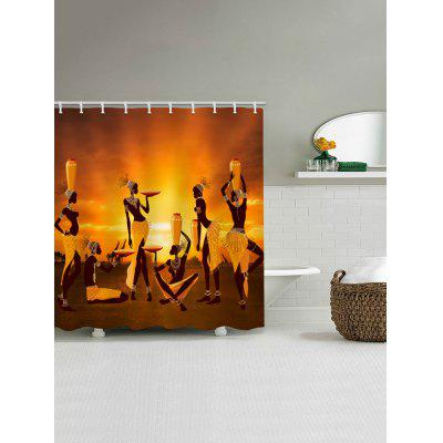 African Women at Dusk Printed Waterproof Fabric Shower CurtainShower Curtain<br>African Women at Dusk Printed Waterproof Fabric Shower Curtain<br><br>Materials: Polyester<br>Number of Hook Holes: W59 inch*L71 inch: 10; W71 inch*L71 inch: 12; W71 inch*L79 inch: 12<br>Package Contents: 1 x Shower Curtain 1 x Hooks (Set)<br>Pattern: Figure<br>Products Type: Shower Curtains<br>Style: Ethnic