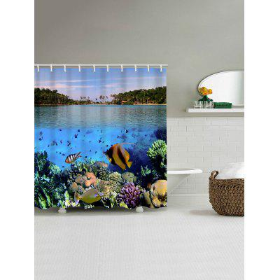 Underwater Scenery Print Waterproof Shower CurtainShower Curtain<br>Underwater Scenery Print Waterproof Shower Curtain<br><br>Materials: Polyester<br>Number of Hook Holes: W59 inch*L71 inch: 10; W71 inch*L71 inch: 12; W71 inch*L79 inch: 12<br>Package Contents: 1 x Shower Curtain 1 x Hooks (Set)<br>Pattern: Scenic<br>Products Type: Shower Curtains<br>Style: Natural