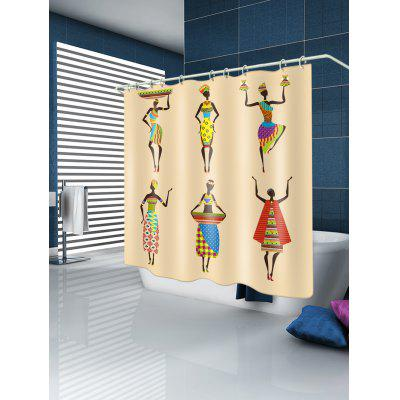 African Woman with Dress Printed Waterproof Fabric Shower CurtainShower Curtain<br>African Woman with Dress Printed Waterproof Fabric Shower Curtain<br><br>Materials: Polyester<br>Number of Hook Holes: W59 inch*L71 inch: 10; W71 inch*L71 inch: 12; W71 inch*L79 inch: 12<br>Package Contents: 1 x Shower Curtain 1 x Hooks (Set)<br>Pattern: Figure<br>Products Type: Shower Curtains<br>Style: Ethnic