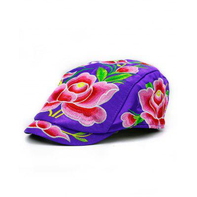 Ivy Hat with Lotus Flower Embroidery