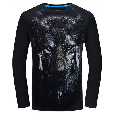 3D Animal Print Long Sleeve Tee