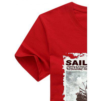 Sailboat Print Short Sleeve T-shirt