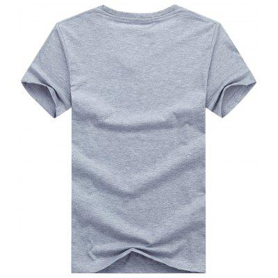 Tower Print Short Sleeve T-shirtMens Short Sleeve Tees<br>Tower Print Short Sleeve T-shirt<br><br>Collar: Crew Neck<br>Material: Cotton, Spandex<br>Package Contents: 1 x T-shirt<br>Pattern Type: Letter<br>Sleeve Length: Short<br>Style: Casual<br>Weight: 0.2300kg