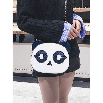 цены Panda Shape Paillette Patchwork PU Crossbody Bag
