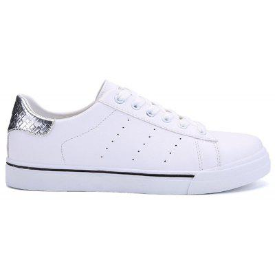 PU Leather Contrast Collar Skate Shoes
